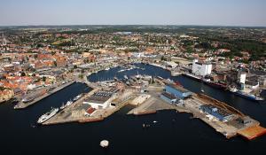 Havnen og Det Maritime Svendborg - Billede af Frederiksøen i Svendborg havn
